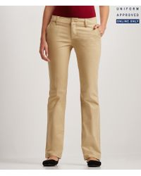 Aéropostale | Brown Curvy Core Twill Pants | Lyst