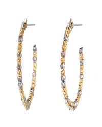 Alexis Bittar | Metallic Gold Muse D'or Two-tone Hoop Earring | Lyst