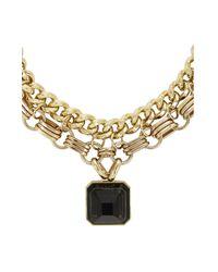 BCBGMAXAZRIA - Metallic Pyramid Stone Pendant Necklace - Lyst