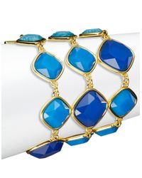 ABS By Allen Schwartz | Blue Three Row Toggle Bracelet | Lyst