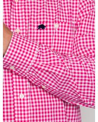 Raging Bull | Pink Signature Gingham Long Sleeve Button Down Shirt for Men | Lyst