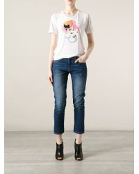 DSquared² - White Punk Mermaid T-Shirt - Lyst