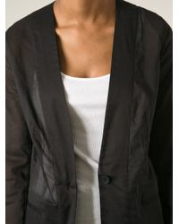 MM6 by Maison Martin Margiela - Black Transparent Blazer - Lyst