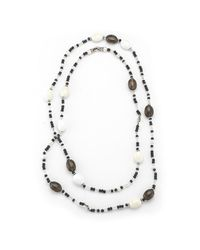 David Yurman - Multicolor Pre-Owned: Smokey Quartz Long Multi-Colored Bead Necklace In Sterling Silver for Men - Lyst