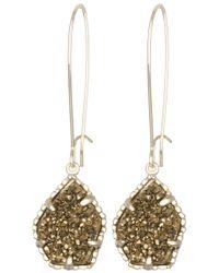 Kendra Scott | Metallic Cathy Earrings Bronze Drusy | Lyst