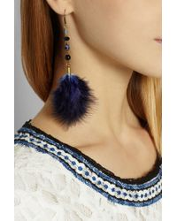 Isabel Marant - Blue Goldtone Feather Earrings - Lyst