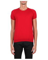 CoSTUME NATIONAL - Red Cotton T-shirt for Men - Lyst
