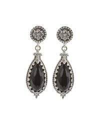 Konstantino | Black Silver & Teardrop Onyx Drop Earrings | Lyst
