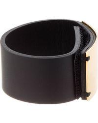 Marni - Black Leather Cuff - Lyst