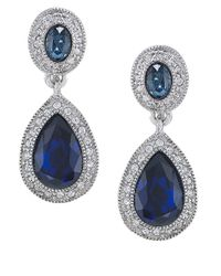 Carolee | Metallic The Bethany Crystal Drop Earrings | Lyst