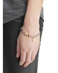 Marc By Marc Jacobs - Metallic Silver Tone Bow Tie Bracelet - Lyst