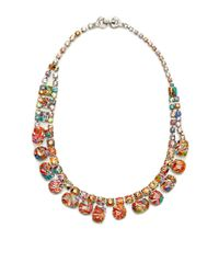 Tom Binns - Metallic A Riot Of Color Painted Crystal Necklace - Lyst
