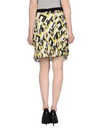 Pinko - Yellow Mini Skirt - Lyst