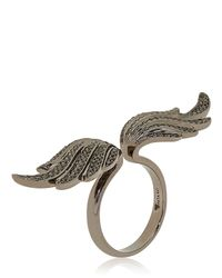 Anita Ko - Black Special Edition Double Wing Ring - Lyst