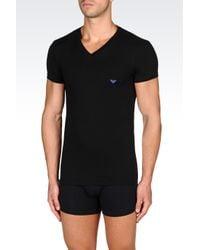 Emporio Armani | Black Undershirt for Men | Lyst