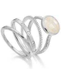 Monica Vinader   Metallic Skinny Crown Ring   Lyst