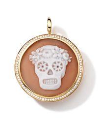 Ippolita | Metallic 18k Gold Round Skull Cameo Charm With Diamonds | Lyst