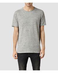 AllSaints - Gray Forgone Crew T-shirt for Men - Lyst