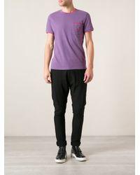 KENZO - Purple Chest Pocket Tshirt for Men - Lyst