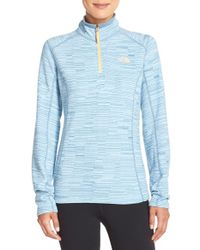 The North Face | Blue 'glacier' Quarter-zip Jacket | Lyst