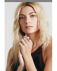 Free People - Purple Caged Cuff Ring - Lyst