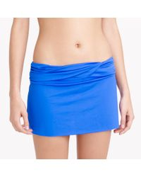 J.Crew | Blue Jersey Lomellina Ruffle Underwire Bikini Top | Lyst