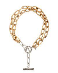 Camille K - Metallic Stella Double Chain Necklace - Lyst
