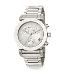 Ferragamo - Metallic Salvatore Gent Stainless Steel Chronograph Watch - Lyst