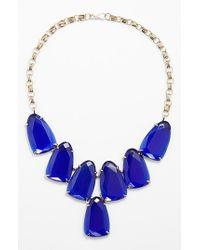 Kendra Scott - Blue 'harlow' Necklace - Cobalt/ Gold - Lyst