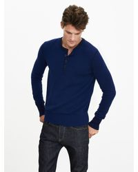 Banana Republic | Blue Todd & Duncan Cashmere Henley Pullover for Men | Lyst