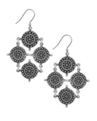 Lucky Brand | Metallic Silver-tone Coin Drop Earrings | Lyst