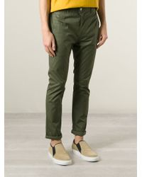 Julien David - Green Chino Trousers for Men - Lyst