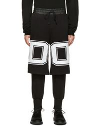 D by D | Black Printed Logo Layered Pants for Men | Lyst