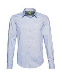 BOSS Green | Blue Regular Fit Casual Cotton Shirt 'c-buster' for Men | Lyst