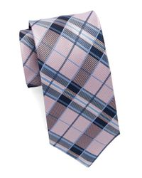 Burma Bibas | Pink Silk Plaid Tie for Men | Lyst