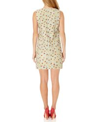 Almost Famous - Green Embroidered Floral Dress - Lyst
