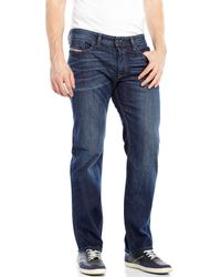 DIESEL | Blue Waykee Regular Straight Jeans for Men | Lyst