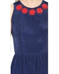 Shoshanna - Blue Alexia Gown - Navy/Ruby - Lyst