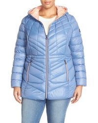 Bernardo | Blue Hooded Down & Primaloft Jacket | Lyst