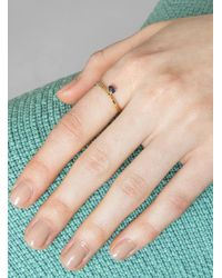 Mociun - Blue Stacked Sapphire Ring Gold - Lyst
