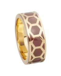 Astley Clarke | Brown Colour Honeycomb 18ct Gold Vermeil Stacking Ring | Lyst