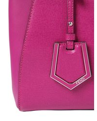 Fendi - Pink Mini 2jours Structured Leather Bag - Lyst