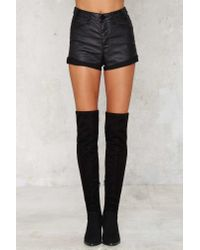 One Teaspoon - Black Harlets Denim Shorts - Lyst