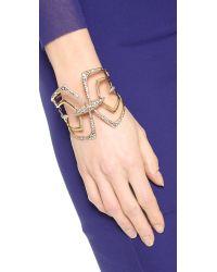 Alexis Bittar - Metallic Encrusted Mirrored Hinge Bracelet - Gold - Lyst