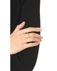 Vita Fede - Pink Double Band & Chain Ring - Lyst