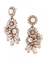 BaubleBar | Crystal Pearl Bouquet Drops-Pink | Lyst