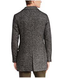 BOSS Orange   Black Short Coat 'barrets' In Salt-and-pepper Look for Men   Lyst