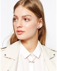 Ted Baker | Pink Sineda Sleek Bow Necklace | Lyst