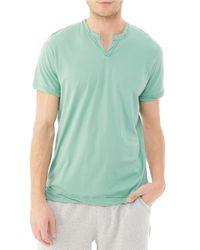 Alternative Apparel | Green Split Neck T Shirt for Men | Lyst