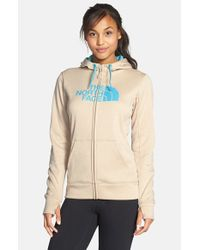 The North Face | Natural 'half Dome' Full Zip Fleece Hoodie | Lyst